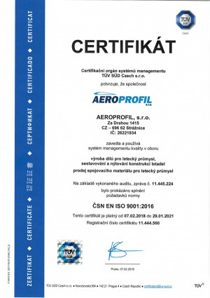 ISO certifikat 2018 2021