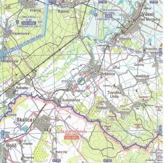 mapa letiste